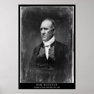 Retrato de Sam Houston Póster