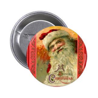 Retrato de Santa sonriente Pin Redondo 5 Cm