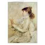 Retrato de Sarah Bernhardt Tarjeta De Felicitación