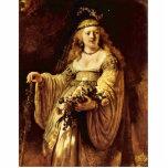 Retrato de Saskia como flora de Rembrandt Harmensz Esculturas Fotográficas