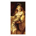 Retrato de Saskia como flora de Rembrandt Harmensz Tarjeta Publicitaria A Todo Color