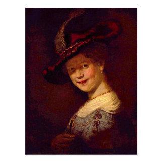 Retrato de Saskia van Uijlenburgh de Rembrandt Tarjetas Postales