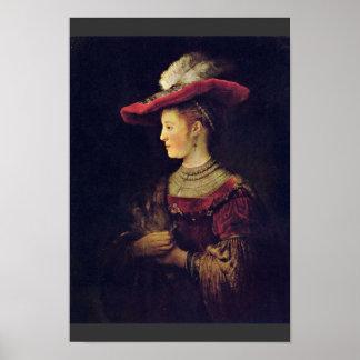 Retrato de Saskia Van Uylenburch [1]. Por Rembrand Posters