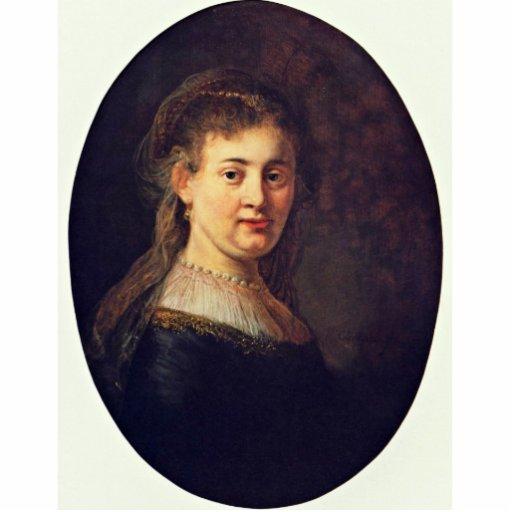Retrato de Saskia Van Uylenburgh. Por Rembrandt Esculturas Fotográficas