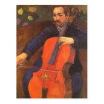 Retrato de Schneklud del jugador, Gauguin, arte de Postales