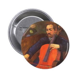 Retrato de Schneklud del jugador, Gauguin, arte Chapa Redonda 5 Cm