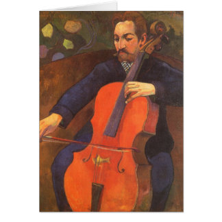 Retrato de Schneklud del jugador, Gauguin, arte Tarjetas