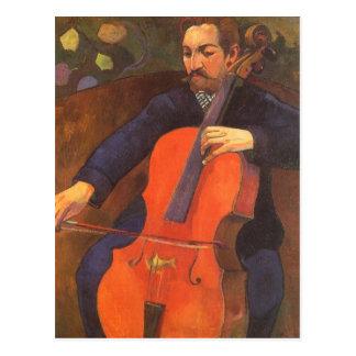 Retrato de Schneklud del jugador, Gauguin, arte Postales