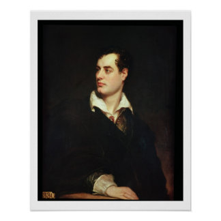 Retrato de señor Byron 1788-1824 aceite en lona Impresiones