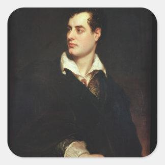 Retrato de señor Byron (1788-1824) (aceite en Pegatina Cuadradas