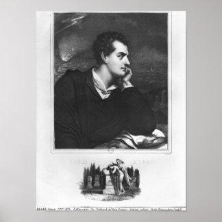 Retrato de señor Byron Impresiones