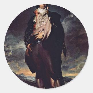 Retrato de señor Mountstuart By sir Thomas de Juan Pegatinas Redondas