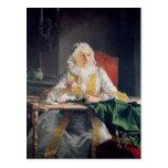 Retrato de señora Antoine Crozat, 1741 Postal