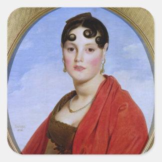 Retrato de señora Aymon, o belleza Zelie del La Pegatina Cuadrada