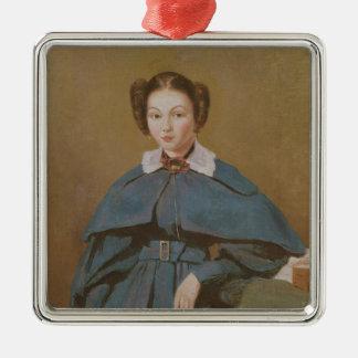 Retrato de señora Baudot, la sobrina del artista Adorno Navideño Cuadrado De Metal