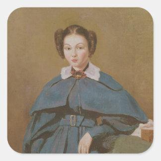 Retrato de señora Baudot, la sobrina del artista Pegatina Cuadradas
