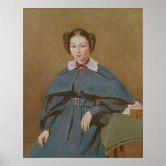 Retrato de señora Baudot, la sobrina del artista Póster
