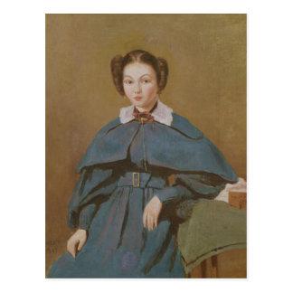 Retrato de señora Baudot, la sobrina del artista Tarjeta Postal