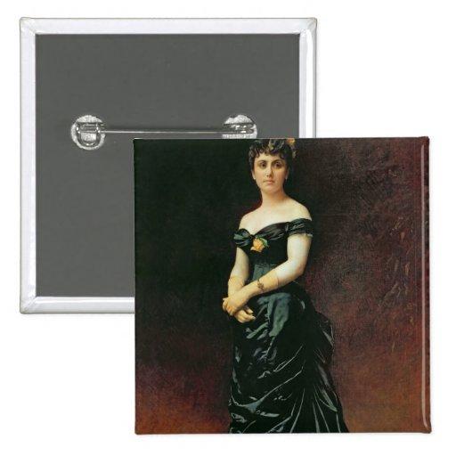 Retrato de señora Bishoffsheim, 1877 Pin Cuadrado