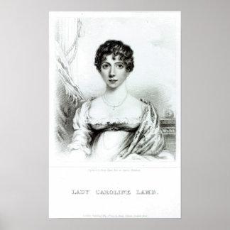 Retrato de señora Caroline Lamb Póster