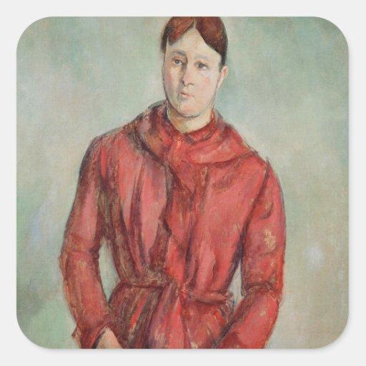 Retrato de señora Cezanne Colcomanias Cuadradases