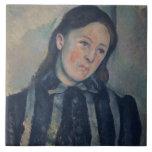 Retrato de señora Cezanne con el pelo aflojado, 18 Tejas Cerámicas