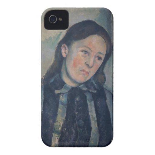 Retrato de señora Cezanne con el pelo aflojado, 18 iPhone 4 Case-Mate Protectores