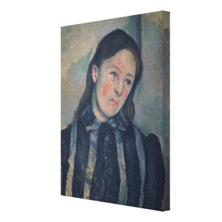 Retrato de señora Cezanne con el pelo aflojado, 18 Impresión En Lona