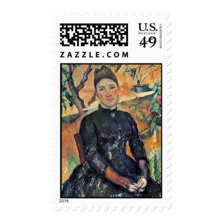 Retrato de señora Cezanne In The Greenhouse Franqueo