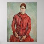 Retrato de señora Cezanne Póster