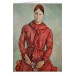 Retrato de señora Cezanne Tarjeta De Felicitación