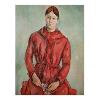 Retrato de señora Cezanne Postal