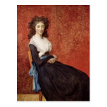 Retrato de señora Charles-Louis Trudaine Tarjeta Postal