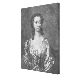 Retrato de señora Cibber, actriz y cantante Lienzo Envuelto Para Galerías