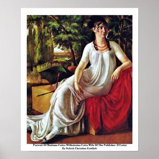 Retrato de señora Cotta (Cotta de Wilhelmina Impresiones