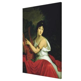 Retrato de señora de la Pleigne Lona Estirada Galerías