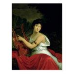 Retrato de señora de la Pleigne Tarjeta Postal