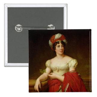 Retrato de señora de Stael Pin Cuadrada 5 Cm