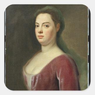 Retrato de Señora Denner Pegatina Cuadrada