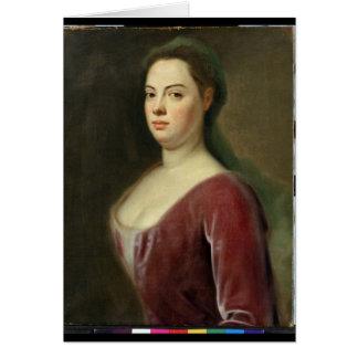 Retrato de Señora Denner Tarjeta De Felicitación