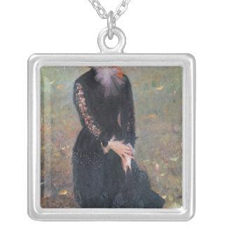 Retrato de señora Eduardo Pailleron, 1879 Collar Plateado