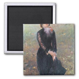 Retrato de señora Eduardo Pailleron, 1879 Imán Cuadrado