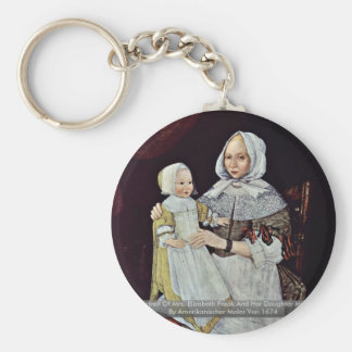 Retrato de señora Elizabeth Freak y su hija Llavero Personalizado