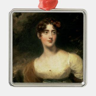 Retrato de señora Emily Harriet Wellesley-poste Adorno Navideño Cuadrado De Metal