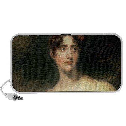 Retrato de señora Emily Harriet Wellesley-poste Notebook Altavoces