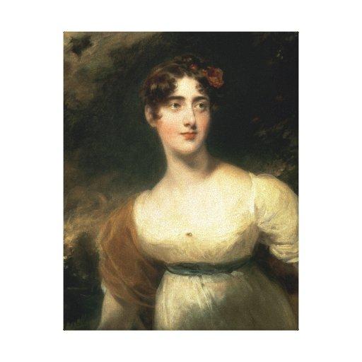Retrato de señora Emily Harriet Wellesley-poste Impresión De Lienzo