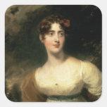 Retrato de señora Emily Harriet Wellesley-poste Pegatina Cuadradas Personalizada