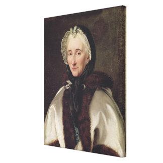 Retrato de señora Francoise de Graffigny Impresión En Lienzo
