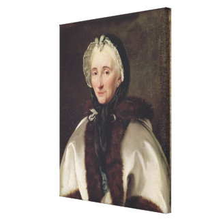 Retrato de señora Francoise de Graffigny Impresión En Lona Estirada