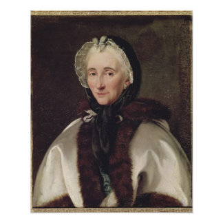 Retrato de señora Francoise de Graffigny Póster